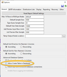 Allow create database in Construct