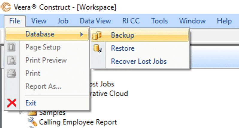 Backup in Construct