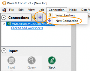 New connection in Construct